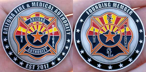 Arizona Fire and Medical Authority challenge coin